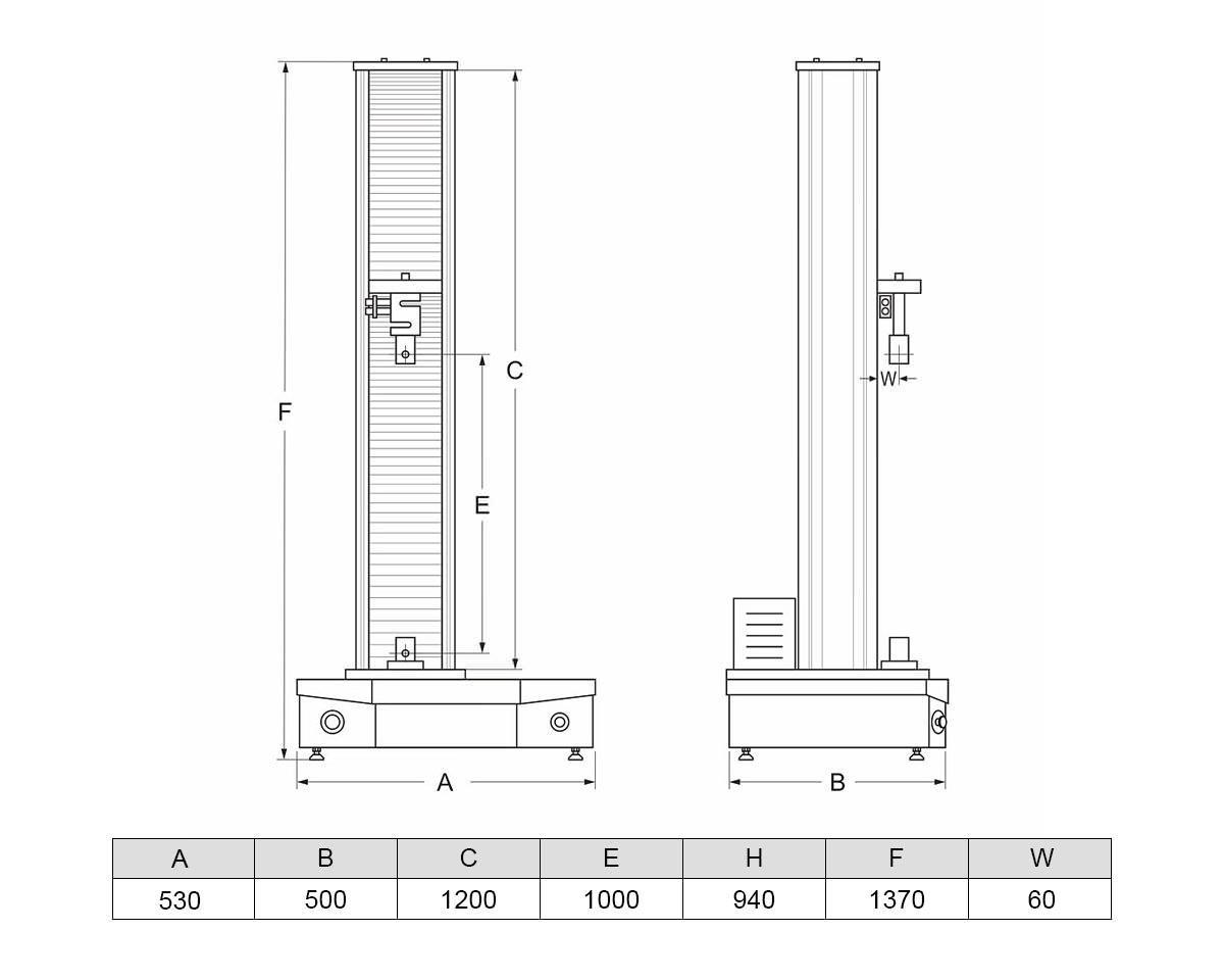 Разрывная испытательная машина МИМ-0,5 (0,5 кН)