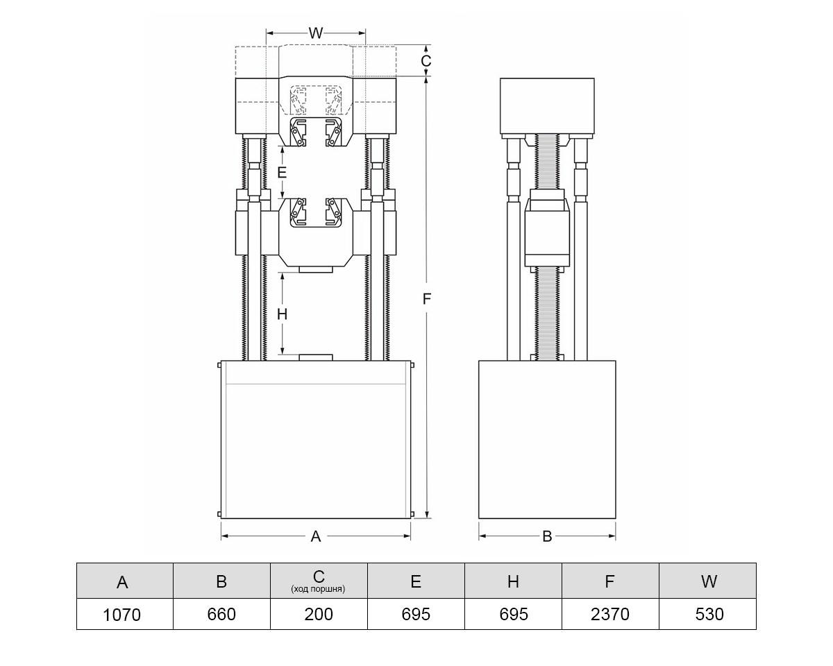 Разрывная испытательная машина МИГ-1000 (1000 кН)