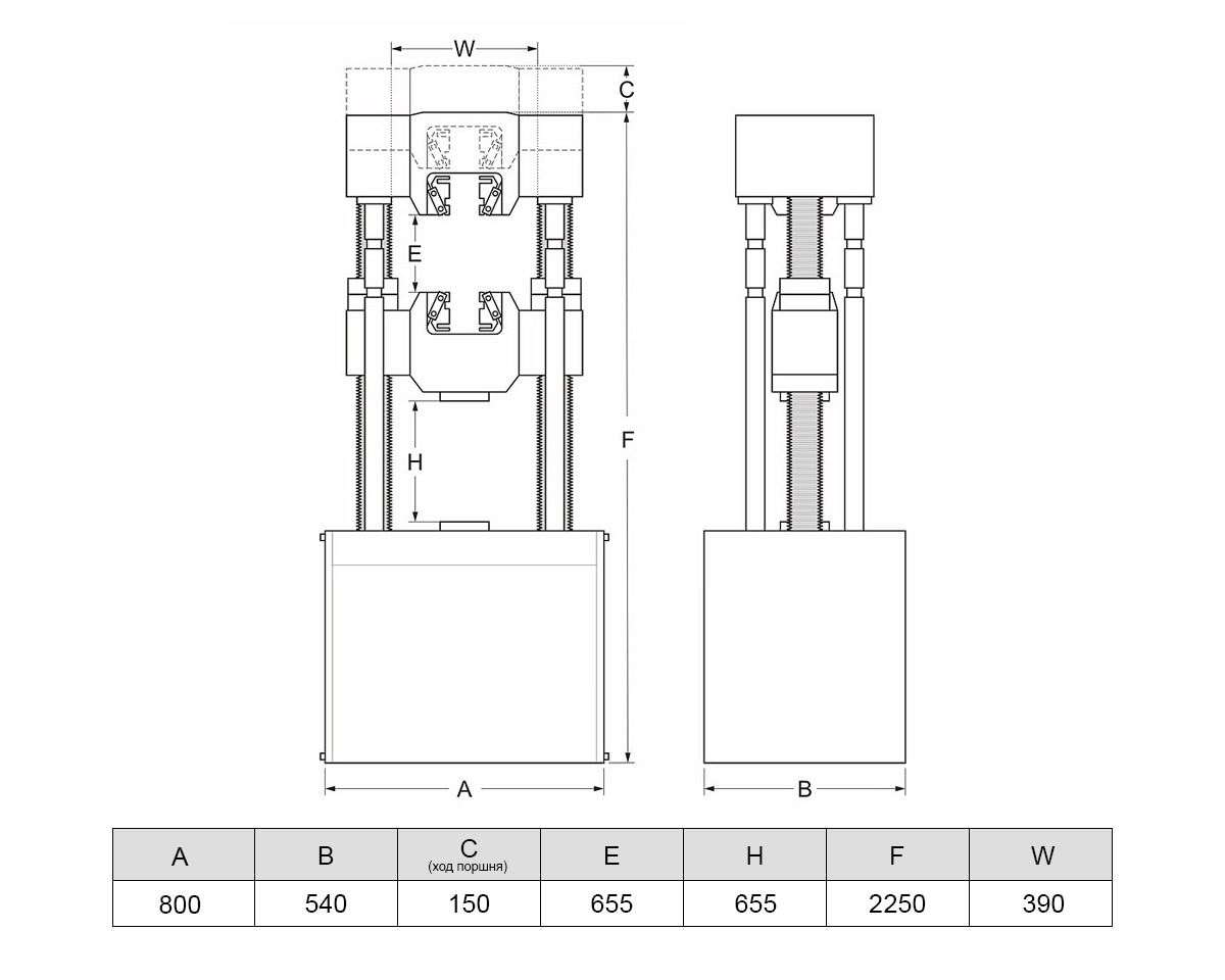 Разрывная испытательная машина МИГ-300 (300 кН)