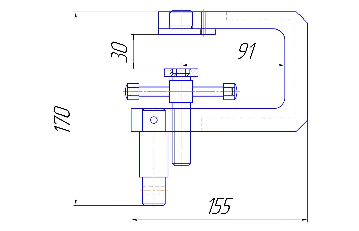 Приспособление для определения прочности гвозде-бортового крепления подошвы (до 3 кН)
