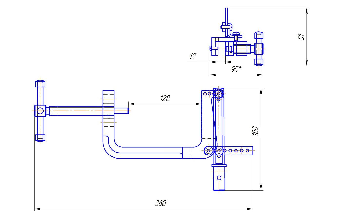 Приспособление для определения прочности крепления химическими методами (до 1 кН)