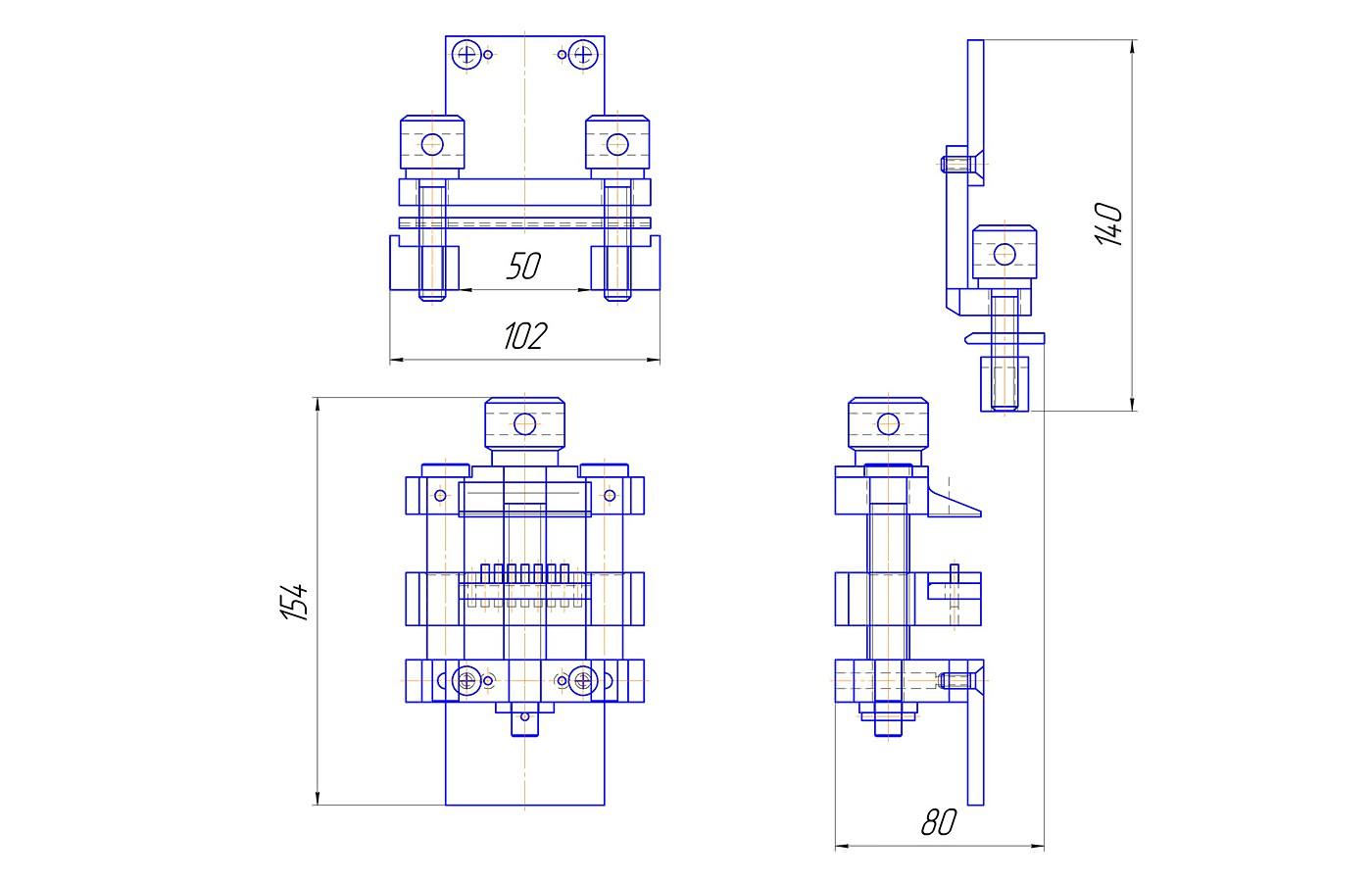 Приспособление для определения прочности крепления ранта и стельки (до 3 кН)